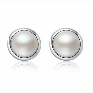 925 Sterling Crystal Stud Earrings